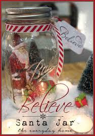 mason jar believe santa the everyday home