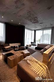 Modern House Living Room Dramatic Modern House By Site Interior Design Decoholic