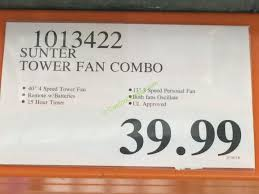 sunter tower fan costco costco 1013422 sunter tower fan combo tag costcochaser