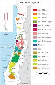 Map Of France Wine Regions by Chile Map Of Vineyards Wine Regions