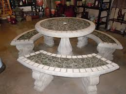 Mosaic Patio Table And Chairs by Round Patio Table Set Variegated Green Tile