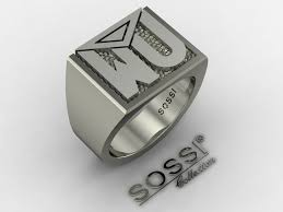 mens silver rings buy a custom made men s silver personalized initial ring made to
