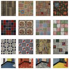 Retro Kitchen Rugs Vintage 1950 U0027s Linoleum Patterns House And Garden Wednesday