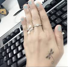 cooltop women tattoo small dragonfly tattoo on hand ink