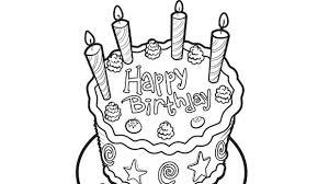 free printable birthday cake banner coloring pages birthday cake coloring page and a lot of candy