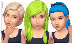 sims 4 maxis match cc hair kids room stuff hair recolour hair by wms via blogspot maxis