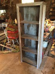 corrugated metal and barn wood shelf plans shops shelves and