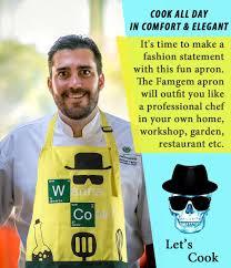 Custom Aprons For Men Amazon Com Kitchen Aprons Chef Cooking Baking Famgem