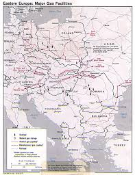 Eastern Europe Map Eastern Europe Major Gas Facilities 1980 Full Size