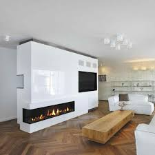 living room with gas fireplace contemporary closed hearth sided