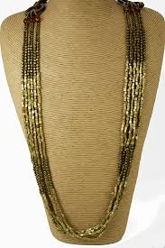 multi layered beaded necklace images Brown gold bronze long multi layer bead necklace long necklaces jpg