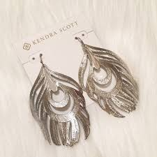 feather earrings s 36 kendra jewelry new kendra silver