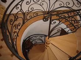 Fer Forge Stairs Design Fer Forge Stairs Design With Metal Baluster System Curved