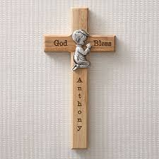 personalized religious gifts personalized communion wall cross praying boy baby gifts