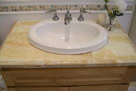 Bathroom Countertop Tile Ideas Likeable 27 Best Tile Countertops Images On Pinterest Tile