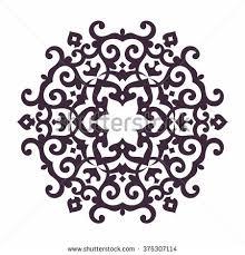 mandala islam arabic asian ornamental motifs stock vector 375307114