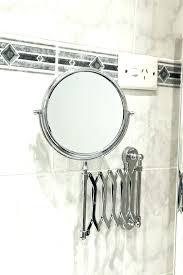 wall mounted extendable mirror bathroom extendable bathroom mirror wall mirrors chrome wall mounted