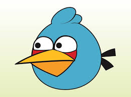 blue angry bird vector art u0026 graphics freevector