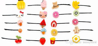 hair clip types children candy hairpin fruits type barrette wholesale animal