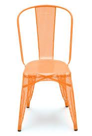 chaise potiron chaise a perforée de tolix inox laqué potiron