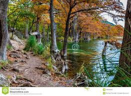 Garner State Park Map Fall Foliage And Clear Water Of Garner State Park Texas Stock