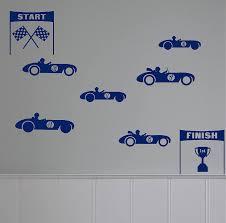 mini racing cars wall sticker set by leonora hammond mini racing cars wall sticker set