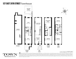 Typical Brownstone Floor Plan 14 Foot Wide Nomad Brownstone Asks 5 25 Million Curbed Ny