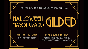 join us at halloween masquerade gilded on october 27 2017 youtube