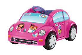 punch buggy car power wheels dora and friends volkswagen new beetle 6v battery