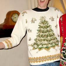 big white tree tacky sweater the