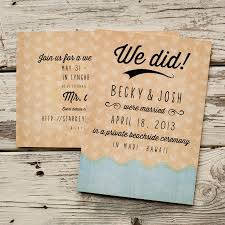elopement announcements wedding announcement wedding announcements the wave