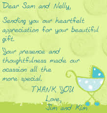 baby shower thank you notes highly appreciated baby shower thank you note wordings note