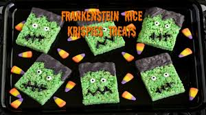 halloween treats frankenstein rice krispies treats 2016 youtube