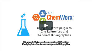 cite acs chemworx u2013 using the word plugin to cite references and