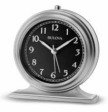 Battery Operated Desk Clock No Ticking Alarm Clocks The Clock Depot