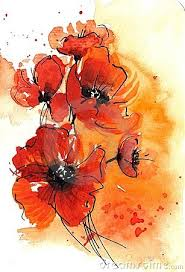 abstract watercolor poppies by finetti tattoo inspiration