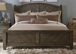 country style beds country poster bed in smokey pewter finish by liberty furniture