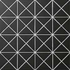 free shipping 2 black unglazed porcelain triangle mosaic