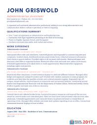 writing resume summary sample resume for executive assistant free resume example and sample resume for administrative assistant 2017