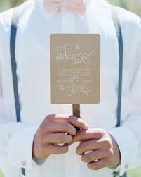 Diy Wedding Program Fan 11 Wedding Program Fans To Keep Guests Cool Martha Stewart Weddings