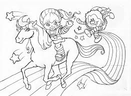 22 best rainbow brite coloring pages images on pinterest new page
