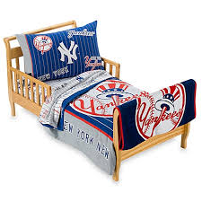 new york yankees 4 piece toddler bedding and blanket by the major