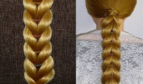 simple hairstyles with one elastic everyday braid hairstyle with elastics for girls kids for