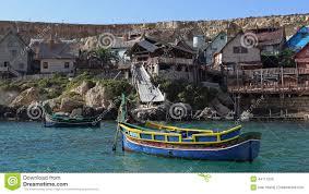 popeye village malta editorial stock image image of