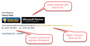 creating an effective email signature ms outlook for business