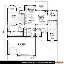 28 icf floor plans single story plans icf house plans and