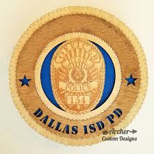 dallas isd police badge plaque