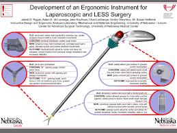development of an ergonomic instrument for laparoscopic and less