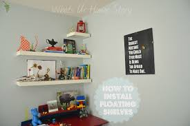 How To Hang Shelves by How To Hang Ikea Lack Floating Shelf Whats Ur Home Story