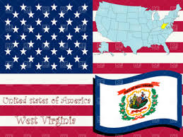 Virginia Flags West Virginia State Outline And Flag Royalty Free Vector Clip Art